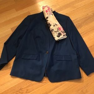 Talbots Teal Wool Suit, Size 16W